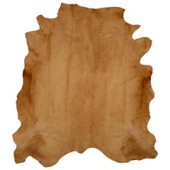 Caramel Brown Genuine Large European Cowhide Hair Rug