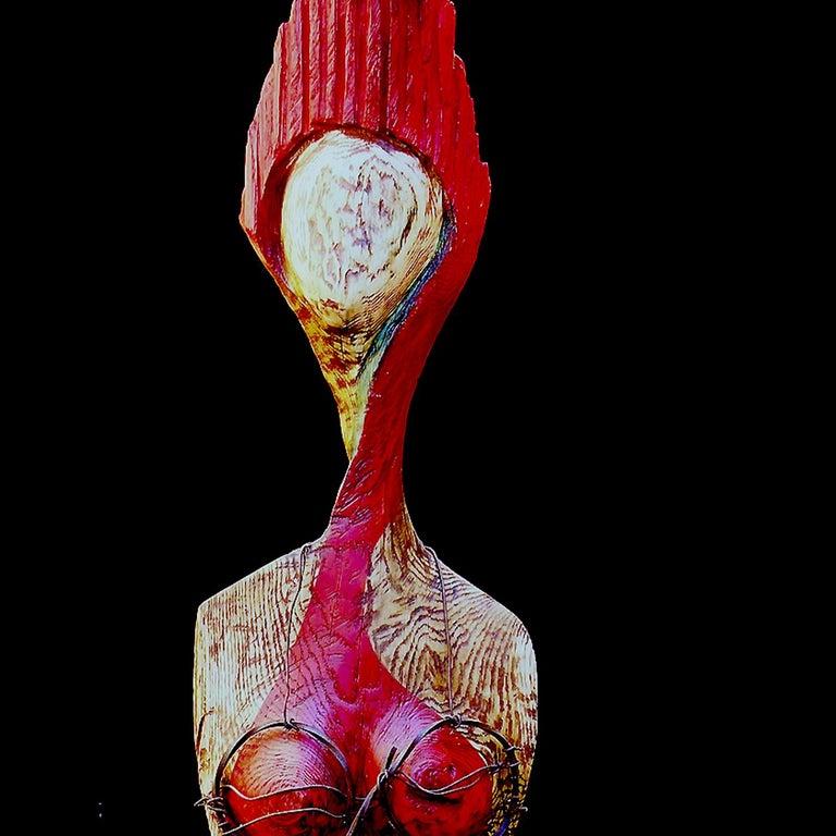 Italian Caramella Wood Sculpture For Sale
