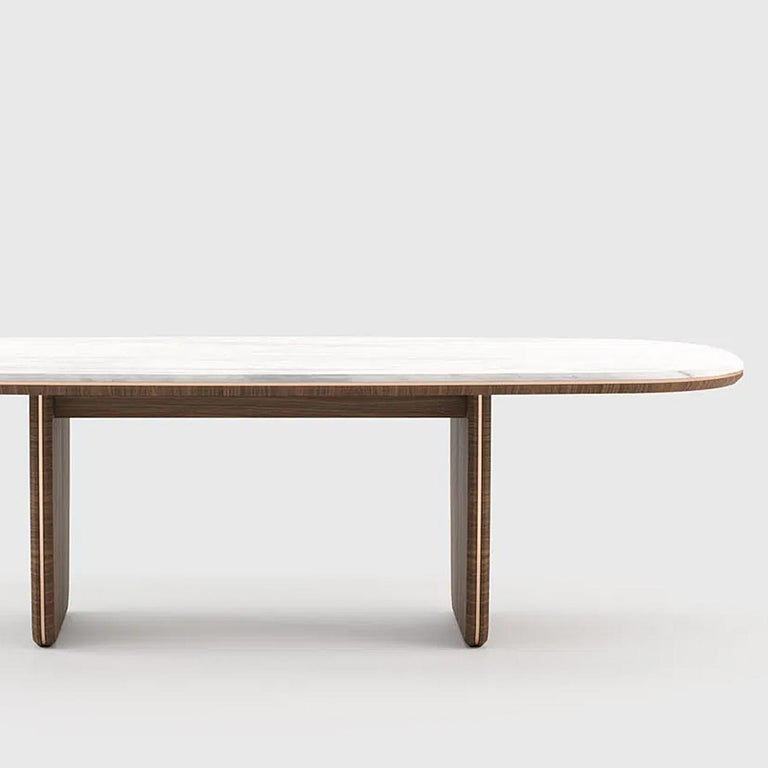 Contemporary Carara Dining Table For Sale