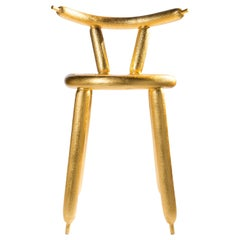 Carbon Balloon Chair Gold, by Marcel Wanders, 2013, Limited Edition #2/5