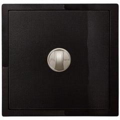 Agresti Carbon Fiber Contemporary Armored Jewel Safe Polished Carbon Front