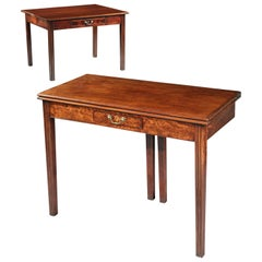 Card Table, Pair of Matched, English, Regency, Mahogany, Flame Figuring, Reeding