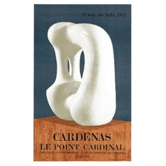 """CARDENAS Le Point Cardinal"" 1973 Original Vintage Poster"