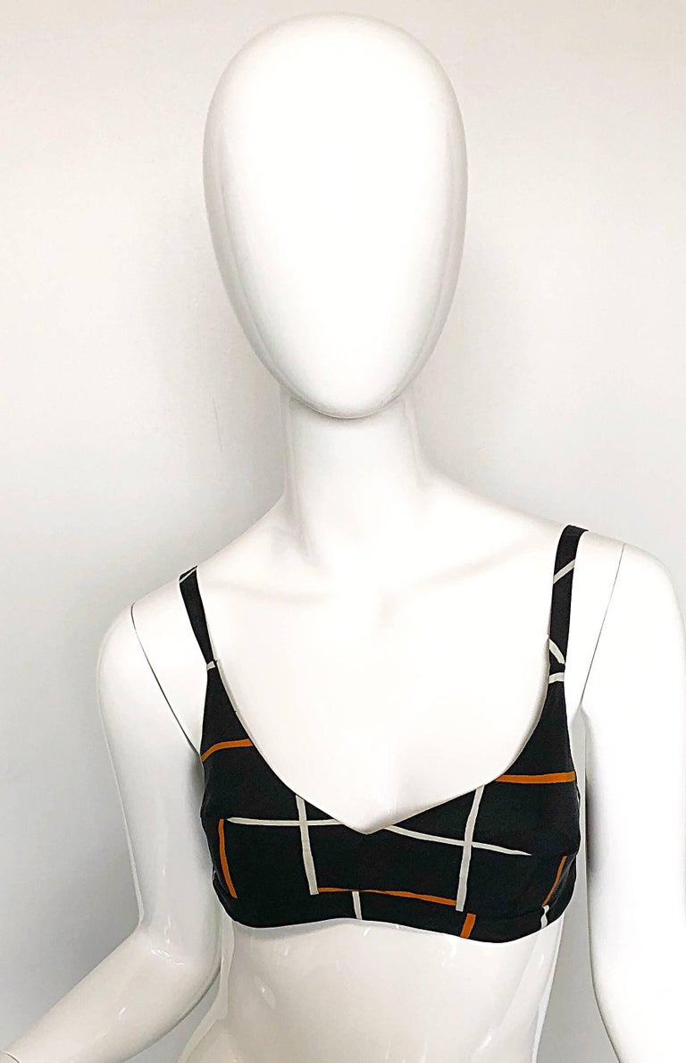 Cardinali 1970s Original Sample Chiffon Bra and Sheer Vintage 70s Tunic Dress In Excellent Condition For Sale In Chicago, IL