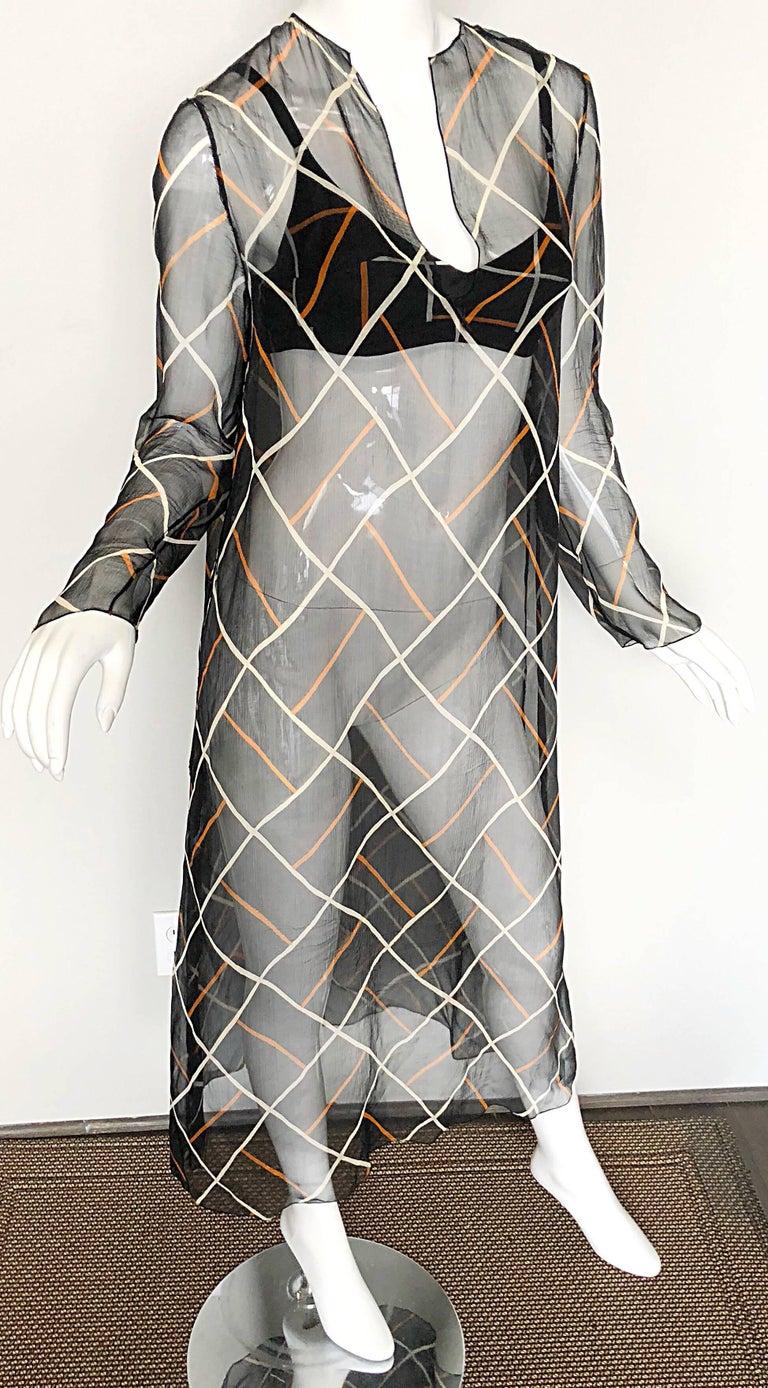Cardinali 1970s Original Sample Chiffon Bra and Sheer Vintage 70s Tunic Dress For Sale 2