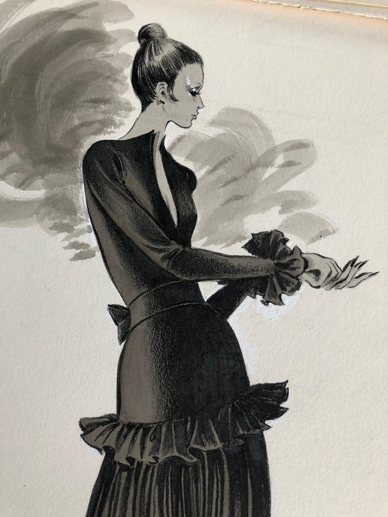 Cardinali Fashion Original Illustration by Robert W. Richards, 1970s  2