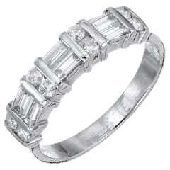 Cardow .84 Carat Diamond Platinum Wedding Band Ring
