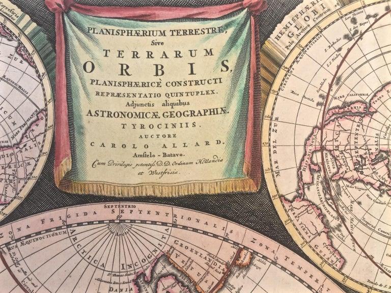 WORLD MAP - Planisphaerium Terrestre Sive Terrarum Orbis... 1696 For Sale 1