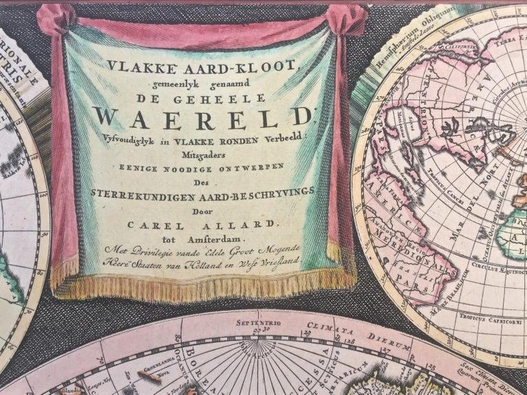 WORLD MAP - Planisphaerium Terrestre Sive Terrarum Orbis... 1696 For Sale 2