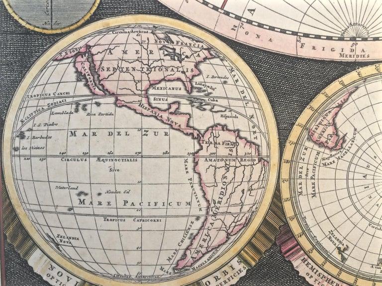 WORLD MAP - Planisphaerium Terrestre Sive Terrarum Orbis... 1696 For Sale 4