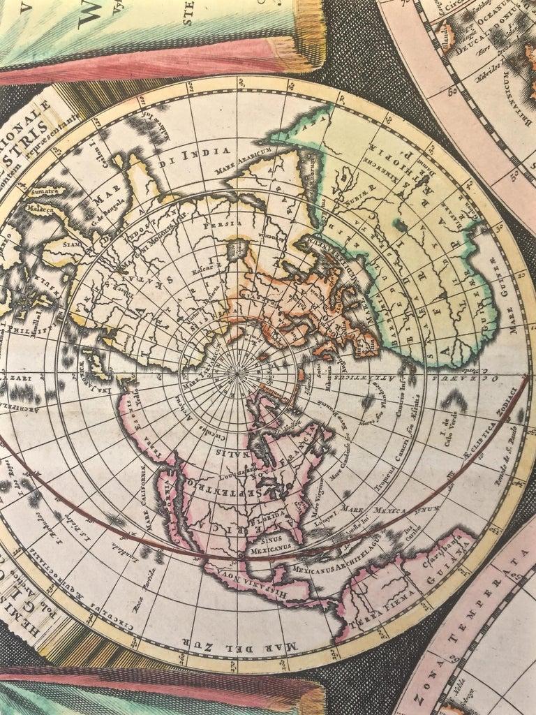 WORLD MAP - Planisphaerium Terrestre Sive Terrarum Orbis... 1696 For Sale 5