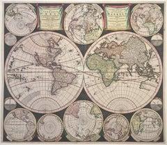 WORLD MAP - Planisphaerium Terrestre Sive Terrarum Orbis... 1696