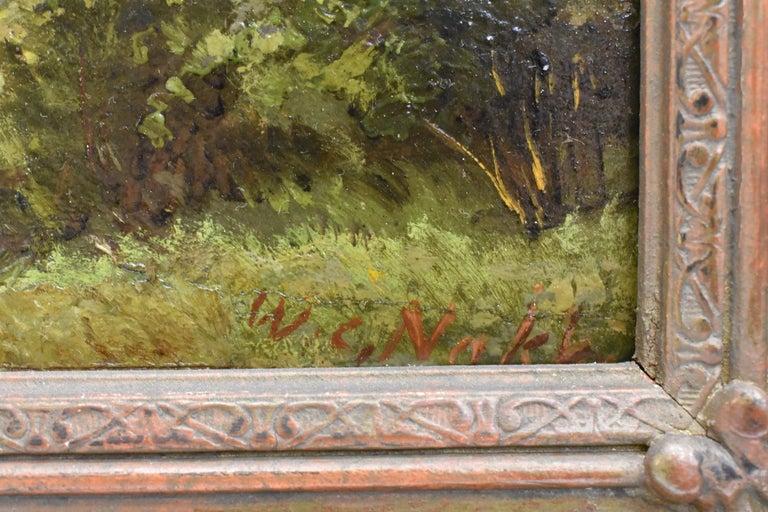 Willem Carel Nakken (The Hague, April 9, 1835 - Rijswijk, January 4, 1926) was a Dutch painter, watercolorist and draftsman. Nakken was born in The Hague in 1835 as the son of the liquor store Jan Willem Nakken and Harmina Katrina Kamperman. He