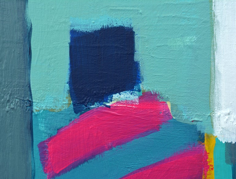 Painted 'Caribbean Composition' Original Abstract Painting by Lars Hegelund