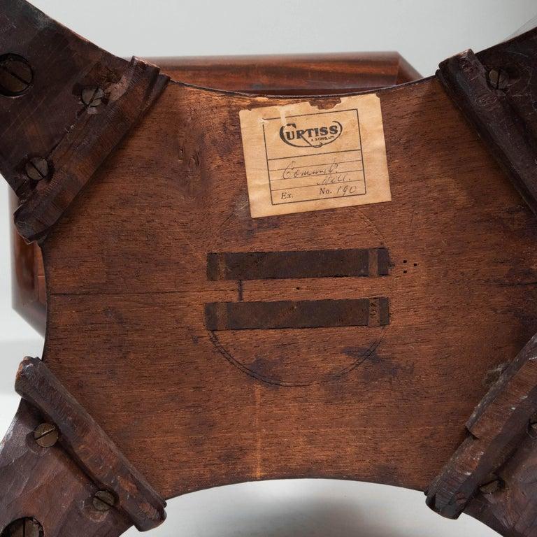 Caribbean Mahogany Table with Sailor's Valentine, circa 1840 4