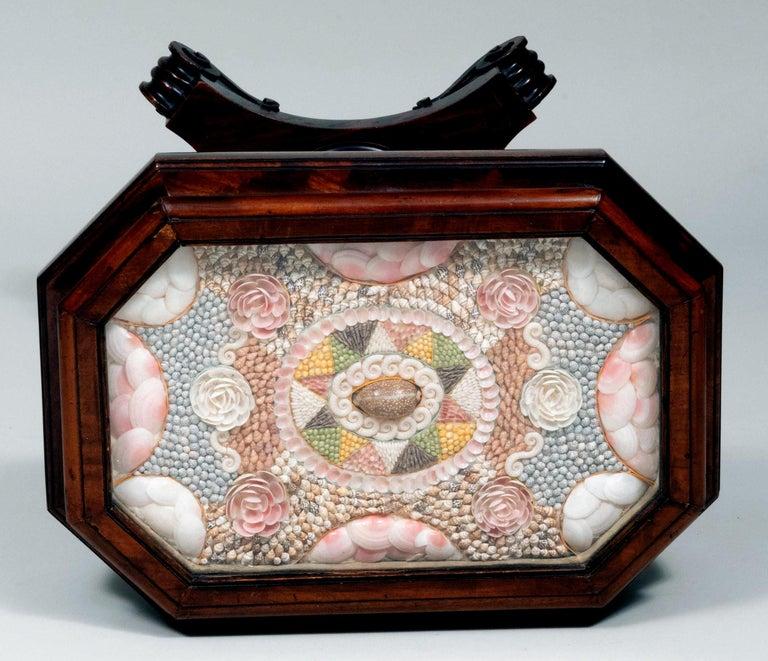 Caribbean Mahogany Table with Sailor's Valentine, circa 1840 5