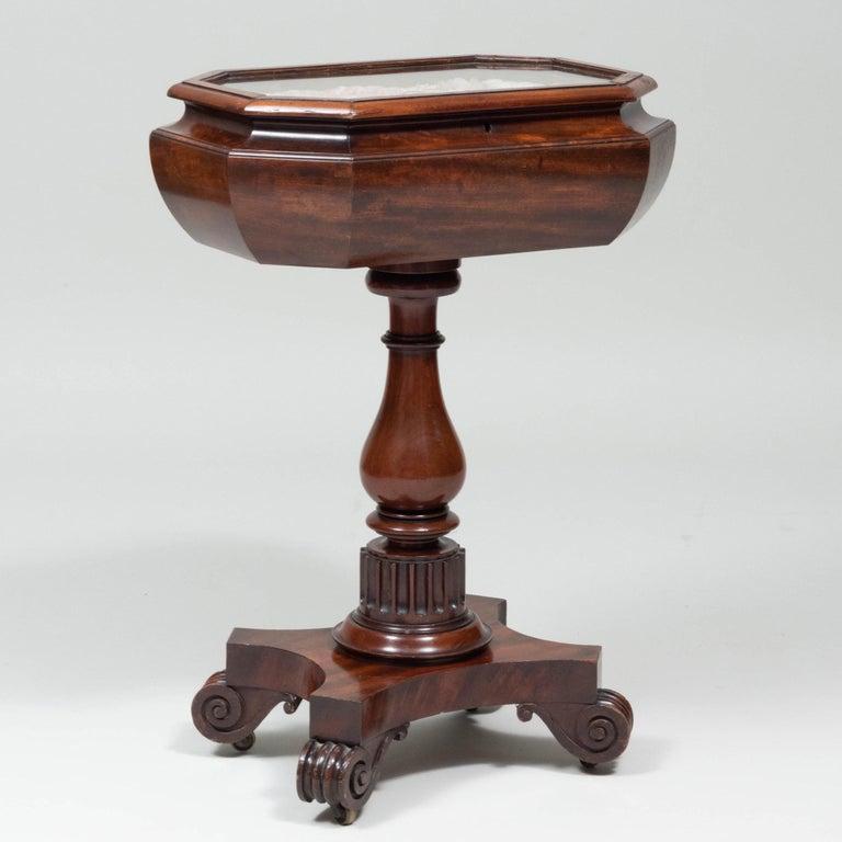 Caribbean Mahogany Table with Sailor's Valentine, circa 1840 6
