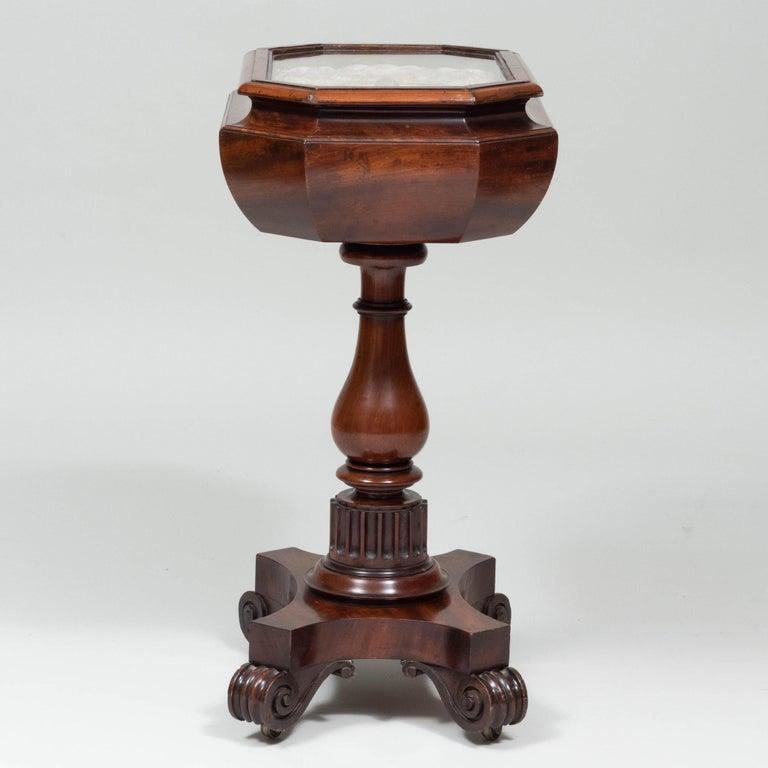 Caribbean Mahogany Table with Sailor's Valentine, circa 1840 2