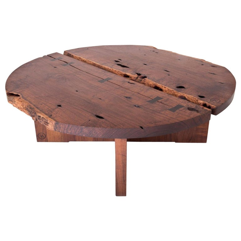 Caribbean Walnut Organic Coffee Table For Sale