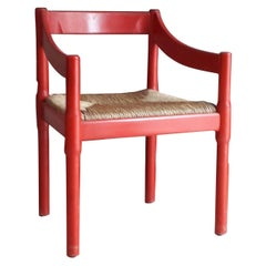 Carimate 2 Chairs by Vico Magistretti from Cassina 1959 Italy Painting Wood Staw