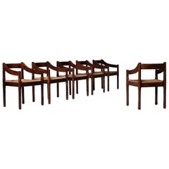 Carimate Dining Chairs by Vico Magistretti, Set of Six