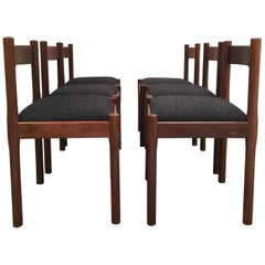 Carimate Dining Chairs Vico Magistretti for Cassina in Rosewood, 1970s