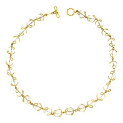 Carina Crystal Ball Gold Necklace
