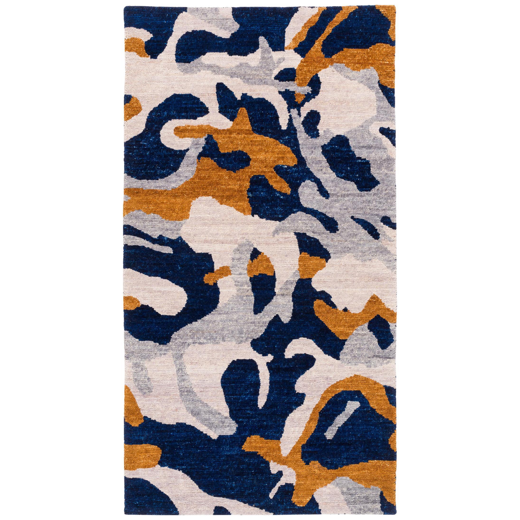 Carini Contemporary Camo Wool Rug