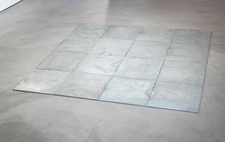 16 Ace Zinc Square - Sculpture by Carl Andre