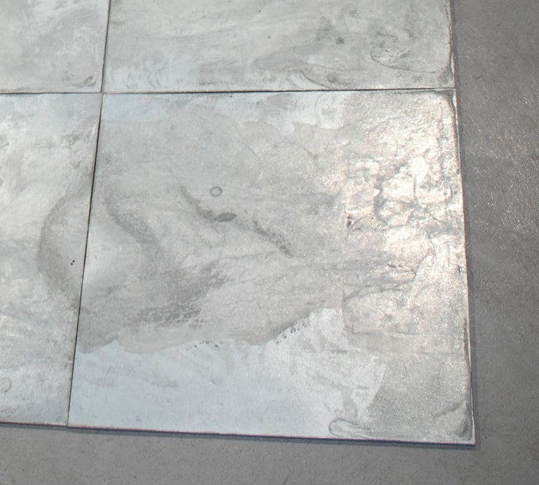 16 Ace Zinc Square - Gray Abstract Sculpture by Carl Andre