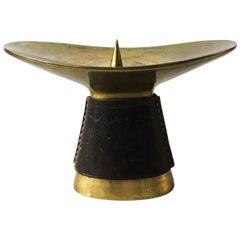 Carl Auböck #3469 Brass Candleholder, Austria, 1950s