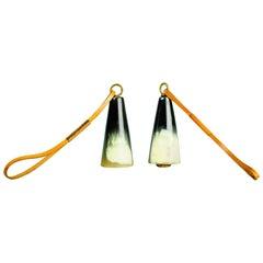 Carl Auböck Bottle Stopper, Horn, Leather, Austria, 1950s