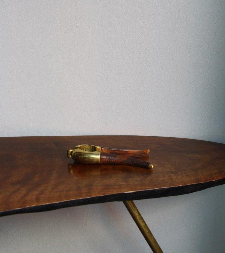 Austrian Carl Auböck Brass and Leather Nutcracker For Sale