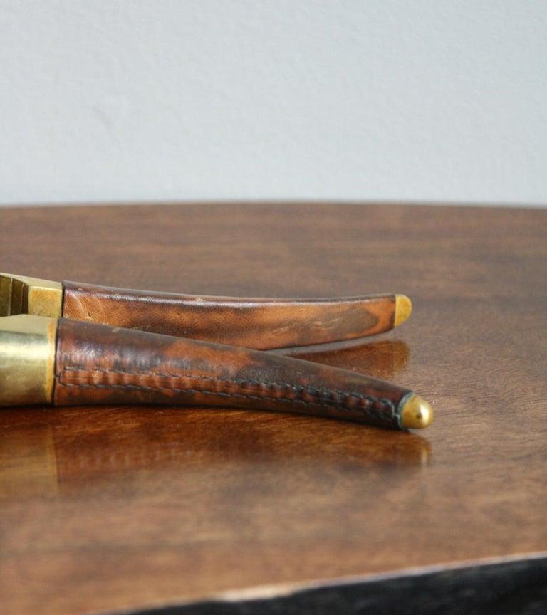 Carl Auböck Brass and Leather Nutcracker For Sale 3