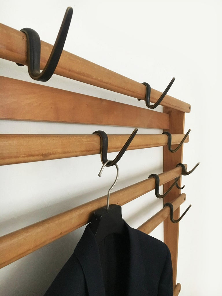 Carl Auböck Coat Rack Wardrobe, Austria, 1950s 3