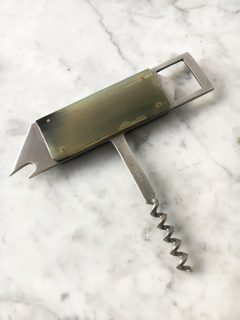 Austrian Carl Auböck Fish Bottle Opener Cork Screw, Austria, 1950s For Sale