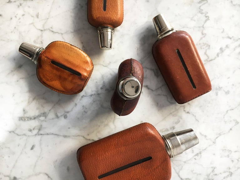Carl Auböck Flask Collection, Group of Five, Austria, 1950s For Sale 4