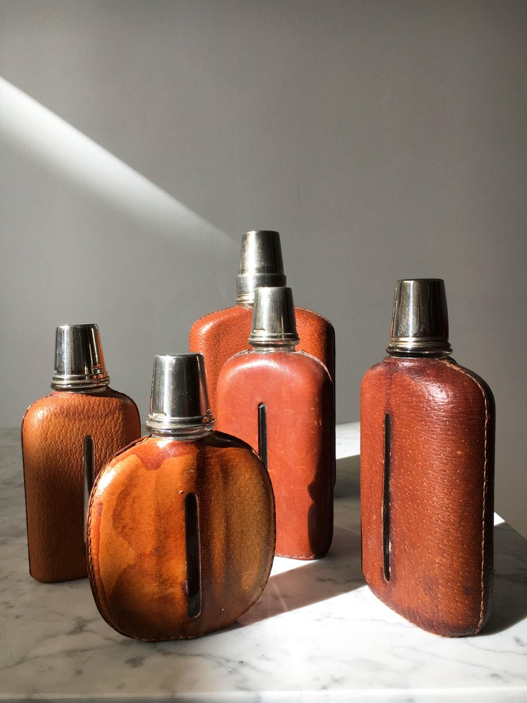 Carl Auböck Flask Collection, Group of Five, Austria, 1950s For Sale 5