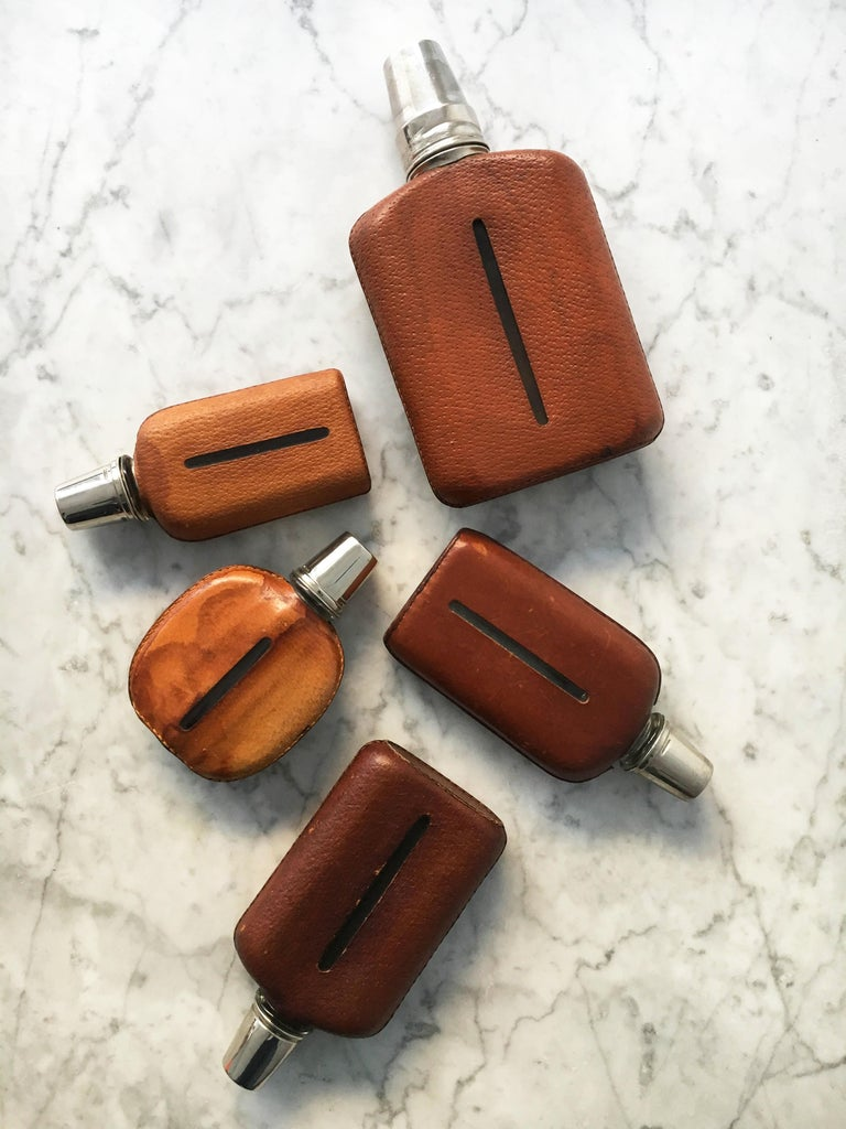 Carl Auböck Flask Collection - Group of Five - Austria, 1950s.