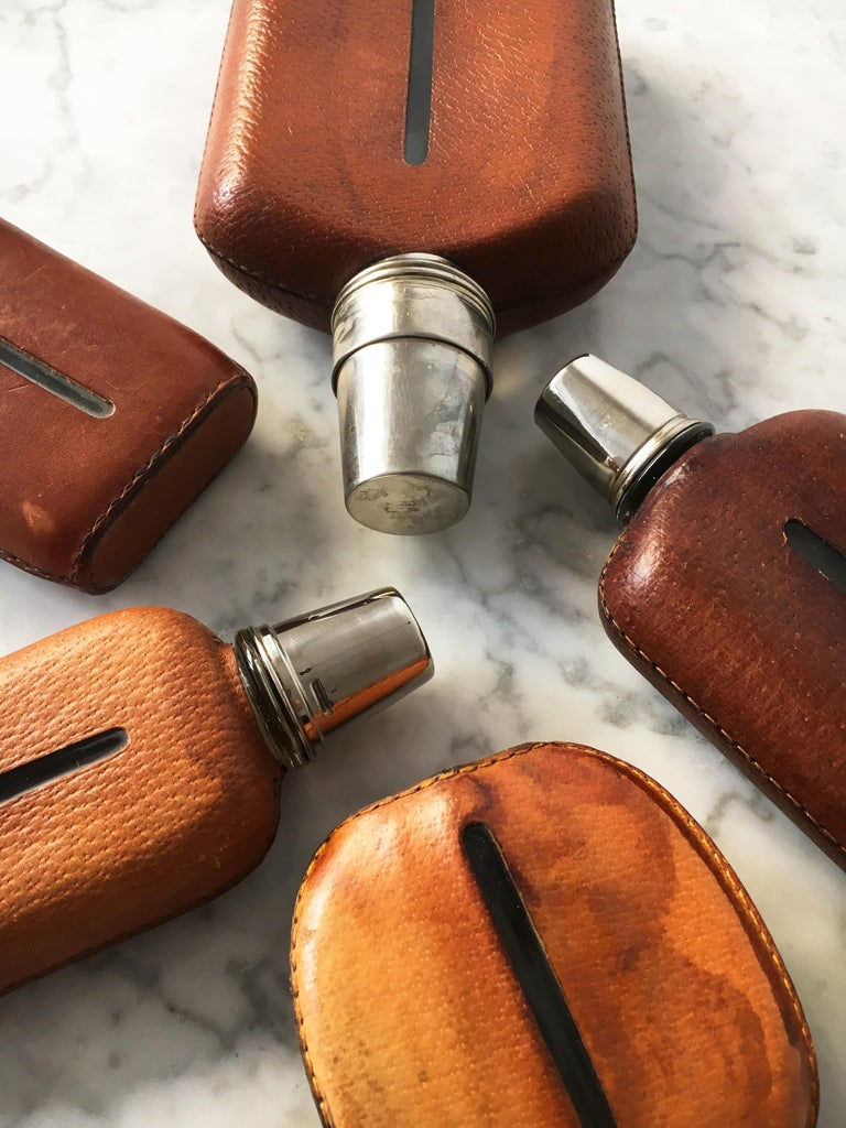 Carl Auböck Flask Collection, Group of Five, Austria, 1950s For Sale 2