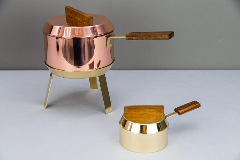 Carl Auböck Fondue Pot and Burner, circa 1950s 'Marked' For Sale 3