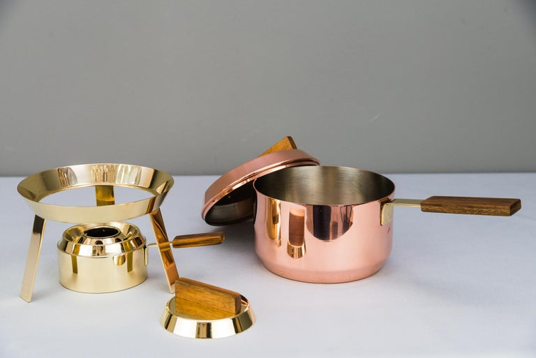 Brass Carl Auböck Fondue Pot and Burner, circa 1950s 'Marked' For Sale