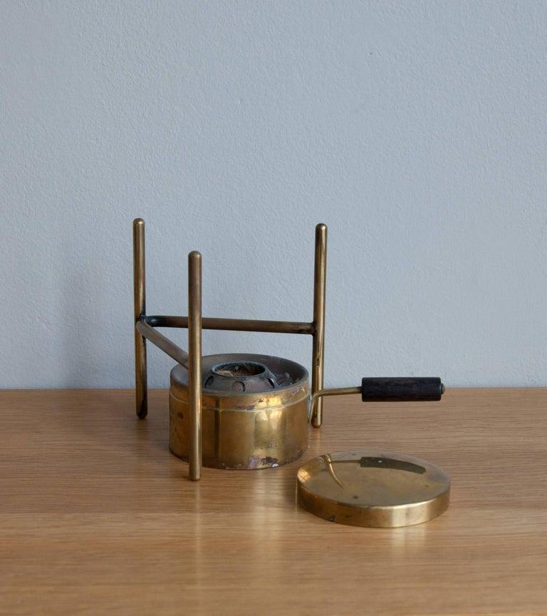 Austrian Carl Auböck Fondue Pot and Burner For Sale