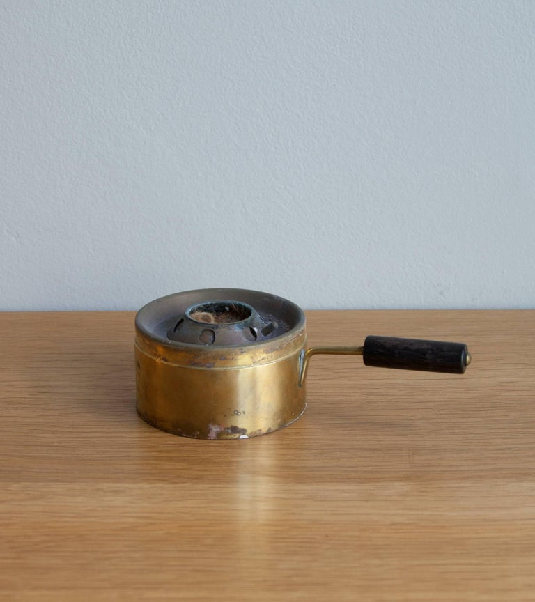 Carl Auböck Fondue Pot and Burner In Excellent Condition For Sale In London, GB