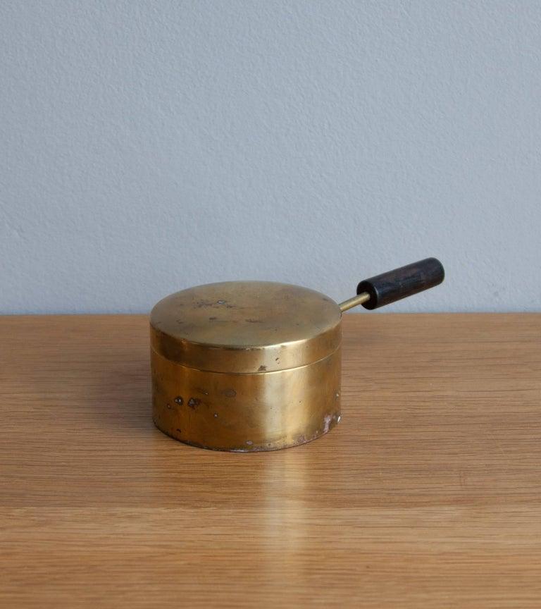 Mid-20th Century Carl Auböck Fondue Pot and Burner For Sale