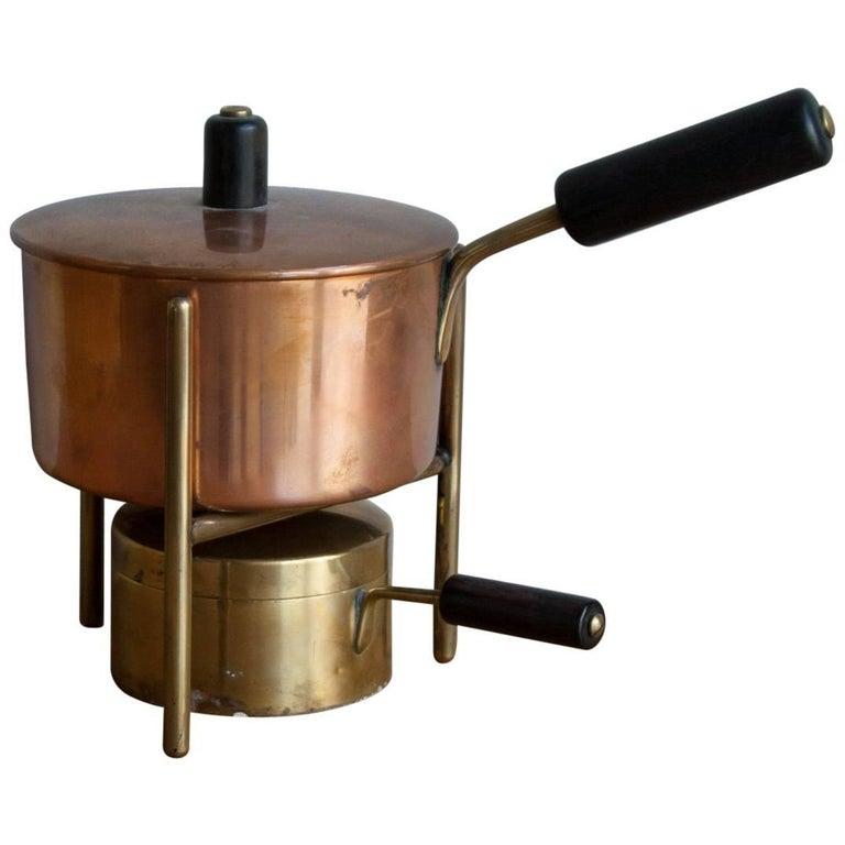 Carl Auböck Fondue Pot and Burner For Sale