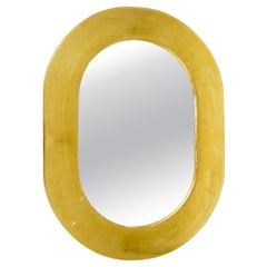 Carl Aubock Gold-Plated Midcentury Wall Mirror, Austria, 1960s