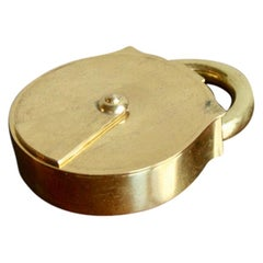 Carl Auböck II Model #3317 Padlock Trinket Box/Ashtray in Brass