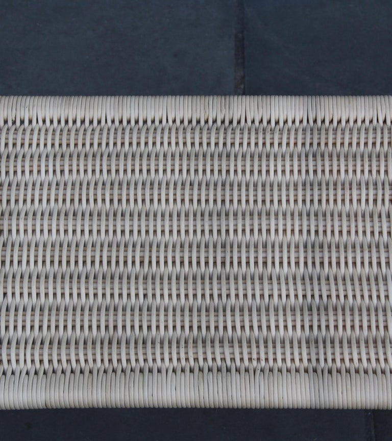 Austrian Carl Auböck II Woven Wicker Long Rectangular Table, circa 1950 For Sale