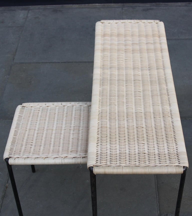 Carl Auböck II Woven Wicker Long Rectangular Table, circa 1950 In Excellent Condition For Sale In London, GB